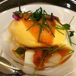 65473837 - 前菜:新玉ねぎのムース、アイス、雲丹
