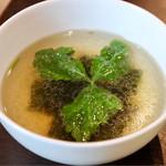 近江珈琲 - 焼肉店風の美味しいスープ