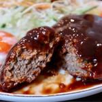 近江珈琲 - 牛肉100%のハンバーグ