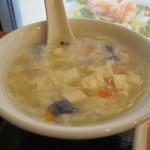 萬興楼 - かき玉スープアップ