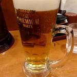 山田うどん - 生ビール