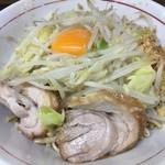 ラーメン二郎 - 汁なし(小)豚2枚麺量半分税込770円