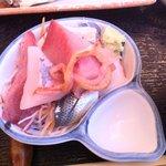 魚鐵 - 付け合せのお刺身