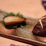 酒庵 田なか - 鰆と原木椎茸の焼き物