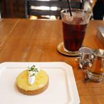 65481585 - レモンタルト&アイスコーヒー