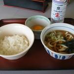 山田うどん - 料理写真:【朝食】「玉子かけごはん」です。