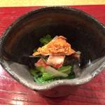 三徳六味 - 料理写真:山菜 車エビ ばちこ
