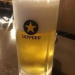 松ちゃん - 生ビール(月火水木土は180円、金祝前日は280円)
