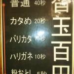 九州豚骨 ちゃんぽん 頃場 - 替玉(細麺のみ)