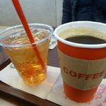 クライマックスコーヒー - ドリンク写真:アイスティ&ホットホーヒー