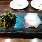 チャオチャオ餃子 - 京漬物盛り合せ