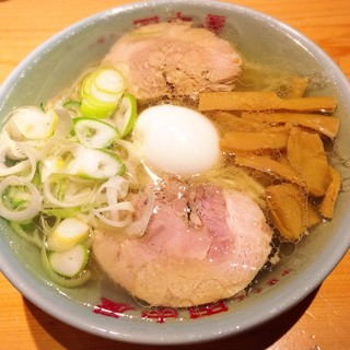 田中屋 - 中華そば(鶏油)+味玉 900円