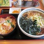 瀬谷そば - カツ丼セット