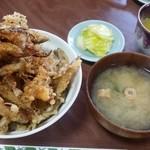 郷土料理 奈辺久 - わかさぎ天丼(750円)