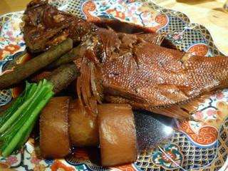 船形 銀座 - 地金目鯛と地野菜炊き合わせ