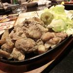 65497997 - 宮崎直送鶏の鉄板炭火焼750円+税