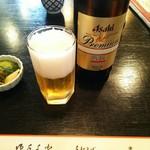 65499255 - 瓶ビールとお通しの漬け物