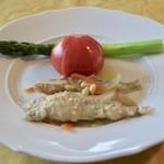 65499862 - 公魚の南蛮漬け、フルーツトマト、グリーンアスパラガス