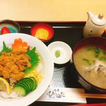 ひらはた - ウニ丼1900円(^^)