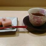 彩懐石 わらび高砂 - 桜の水羊羹