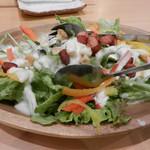 山陰漁港直送 うおはる - 半熟たまごのシーザーサラダ
