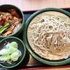 ゆで太郎 - 料理写真:ミニ豚バラ丼セット(大盛)@550円+100円