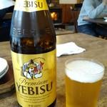 蕎麦 ふじおか - ビール(¥600)