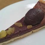 アンリ・シャルパンティエ - 大粒のマロンが丸ごとトッピングされた豪華なチョコレートタルト!