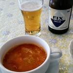 65507513 - スープとギリシャビール