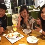 石垣牛と島料理 佐々木勝 - オシャレなバースデープレートでお祝い☆