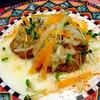 ビストロ アオキ - 料理写真:日替わりランチ:サーモンンソテー ゆず胡椒風
