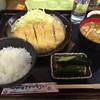 しのざき - 料理写真:ロースカツ定食、ご飯少なめ