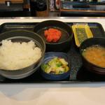 吉野家 - 【朝食】「辛子明太子定食」です。