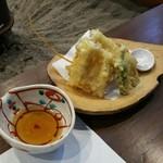 蕎麦きり 一 - 穴子の天ぷら