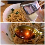 めんだ - 酢&ラー油をお好みで(*^^)v