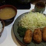 豚珍館 - クリームカニコロッケ マヨ 650円