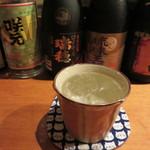 焼酎処 あんたいとる - 黒糖焼酎と栗焼酎をロックで頂きました。