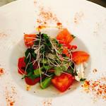 ワイン渡辺。 - ヤリイカと春野菜のサラダ仕立て¥950