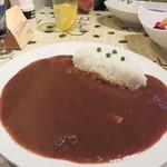 あんみ - 湖月のカレー 750円。 お皿も大きいし、ルーもたっぷり!