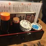 立ち寿司 まぐろ一徹 - 卓上