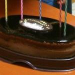 銀座コージーコーナー - チョコレートスフレ864円 バースデープレート(チョコレート)103円