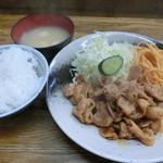 キッチン グラン - 豚生姜焼き定食700円