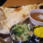 ホイヤ インディアン レストラン - 料理写真:ベジタブルカレー サラダセット
