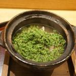 日本料理 太月 - 花山椒しゃぶしゃぶ、鶏と鴨の出汁