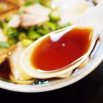 中華そば さるぱぱ - チャーシュー麺(並・太麺)