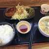 野呂パーキングエリア(上り)スナックコーナー - 料理写真:朝定食(メンチカツ)(500円)