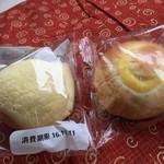 オリエンタルベーカリー 大阪直売店 - ミニメロン(40円)、ミニクリームパン(40円)