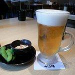 かつ膳 - やっぱりビール