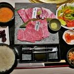 焼肉 霜月 - 霜月近江牛御膳(3500円)