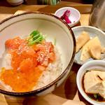 こめらく ニッポンのお茶漬け日和。 - 料理写真:サーモンといくらの北海茶漬け・柚子味噌和え